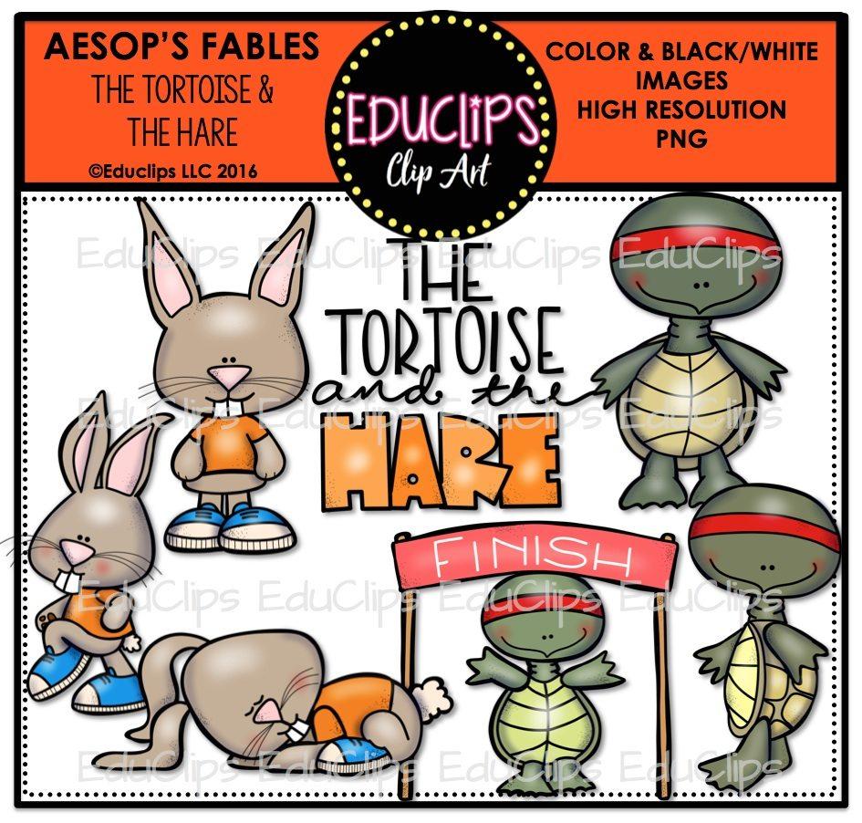 945x902 The Tortoise Amp The Hare (Aesop's Fable) Clip Art Bundle (Color