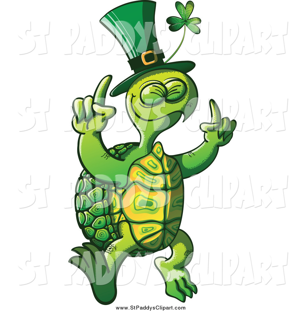 1024x1044 Vector Clip Art Of A St Paddys Day Tortoise Dancing By Zooco