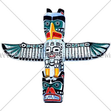 385x385 Totem Pole Production Ready Artwork For T Shirt Printing