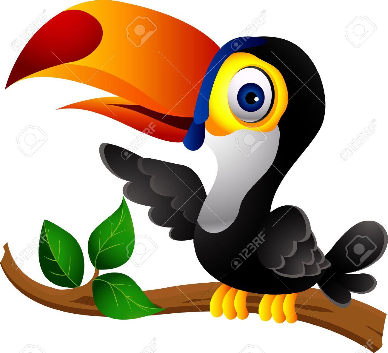 1300x1184 14474377 Toucan Bird Cartoon Clipart Yanhe Clip Art