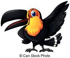 234x194 Cartoon Toucan Bird Isolated On White Background Eps Vector