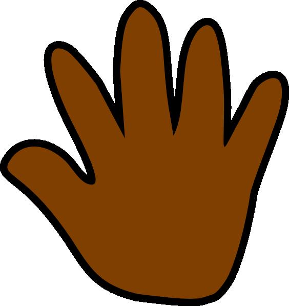 564x597 Dark Brown Handprint Clip Art