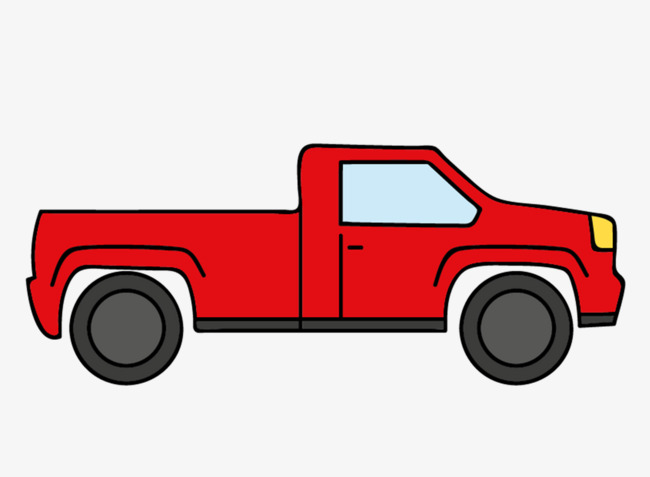 650x477 Creative Cartoon Red Truck, Red, Cartoon, Cartoon Creative Png