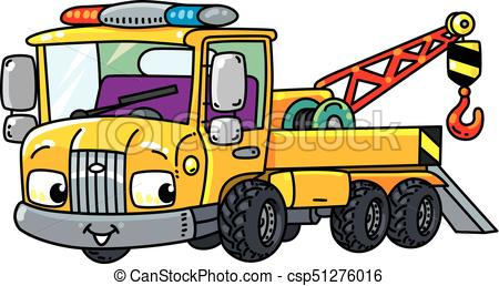 450x258 Funny Small Tow Truck With Eyes. Tow Truck. Small Funny Vector