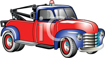 350x193 Royalty Free Clip Art Image Classic Old Wrecker Tow Truck