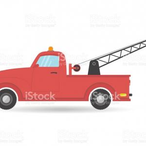 300x300 Stock Illustration Tow Truck Line Vector Icon Createmepink
