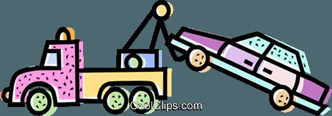 480x168 Tow Trucks Royalty Free Vector Clip Art Illustration Vc068593