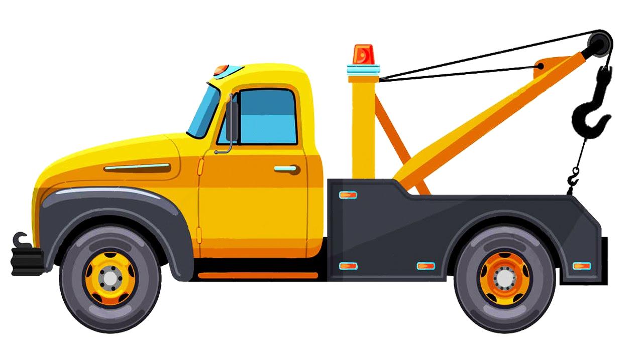 1280x720 Unique Tow Truck Clipart Design