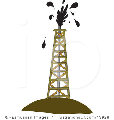 400x420 Oil Tower Clipart