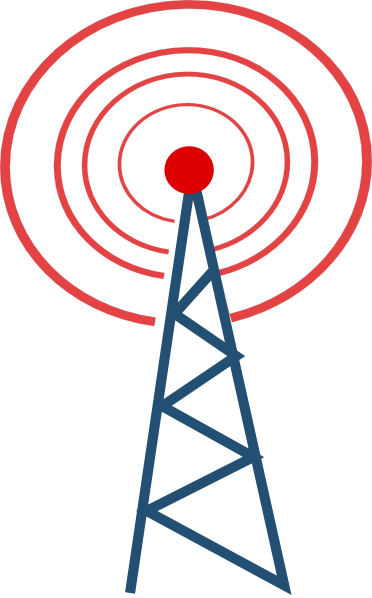 372x598 Vector Radio Tower Broadcast Clipart