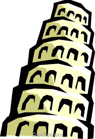 330x480 Tower Of Babel Royalty Free Vector Clip Art Illustration Arch0281