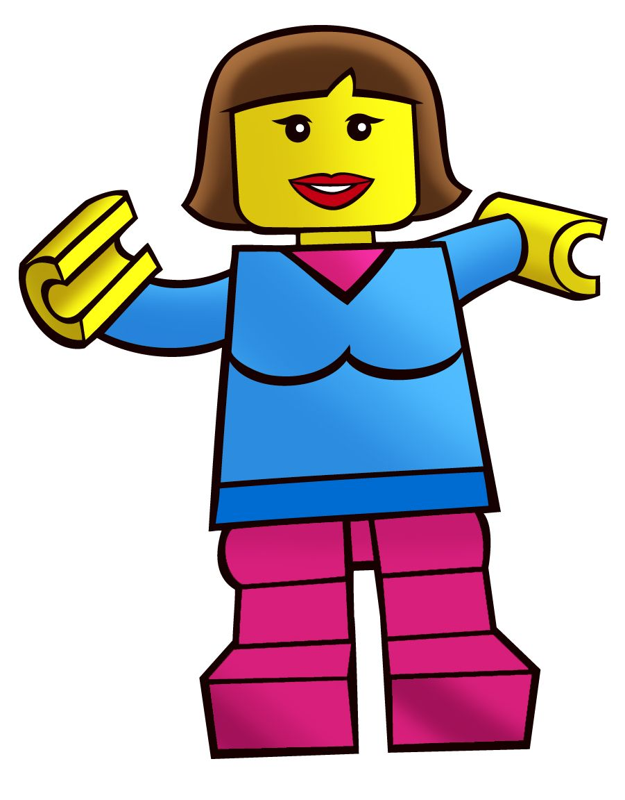 901x1152 Brick Toy Box Minifigures Drawings Girl Free Images