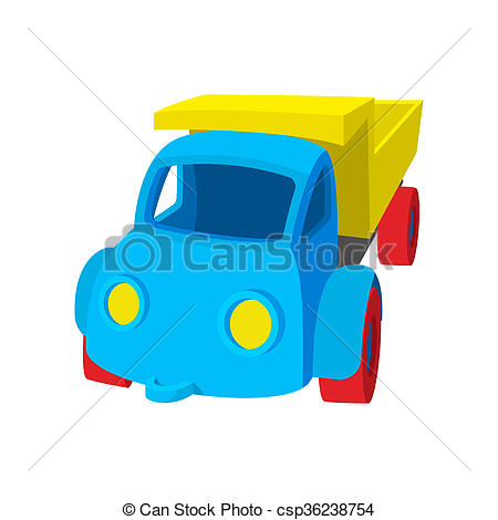 450x470 Toy Truck Cartoon Icon On A White Background Stock Illustrations