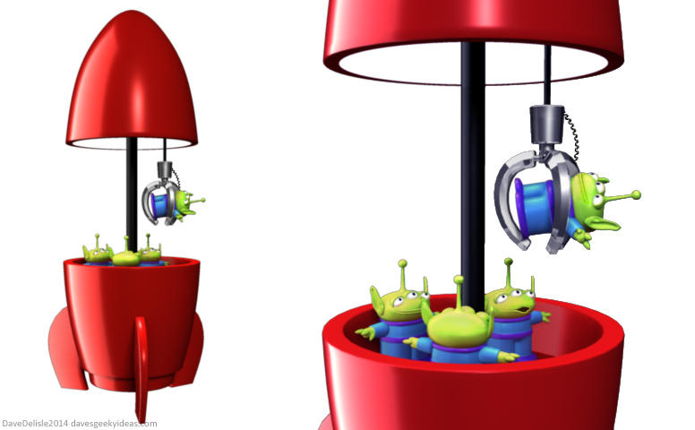 776x480 Toy Story Claw Crane Lamp Dave's Geeky Ideas