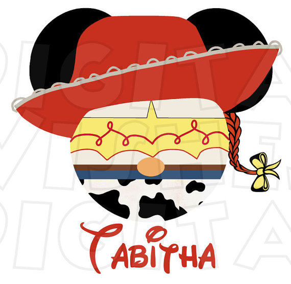 570x556 Jessie Cowgirl Toy Story Mickey Mouse Head Ears Digital Iron