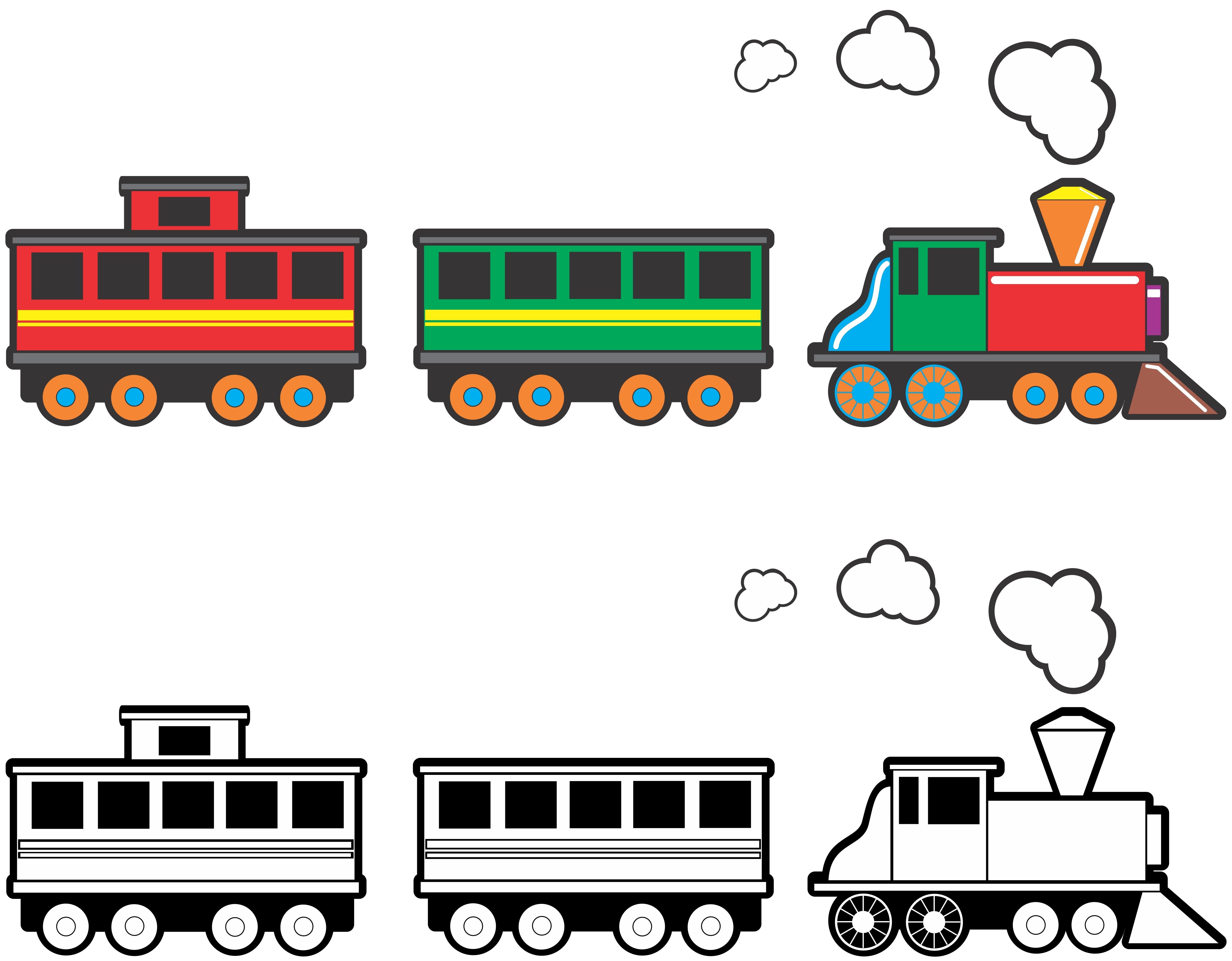 5000x3903 Unique Trains Clipart Design