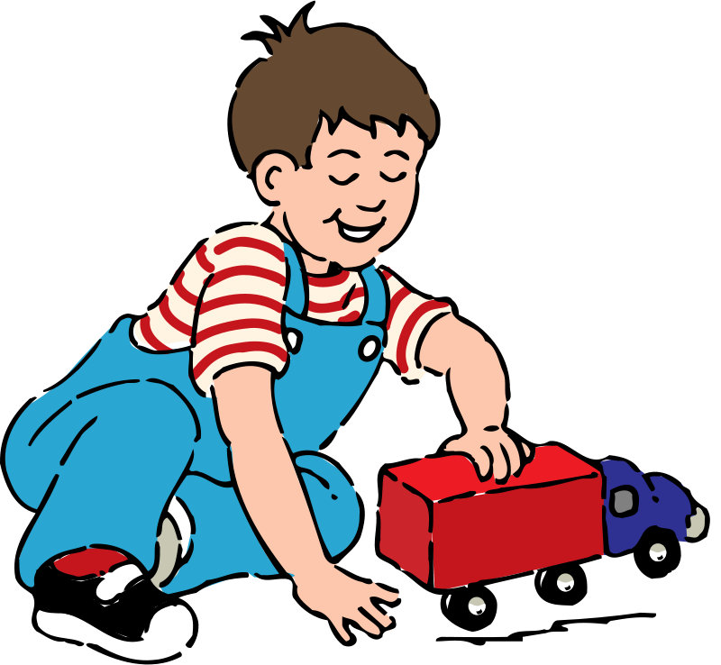 800x738 Free Clipart Boy Playing With Toy Truck Johnny Automatic