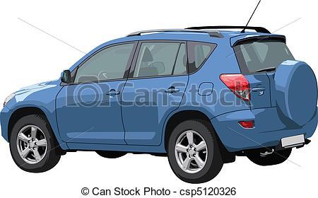 450x280 Vector Off Road Car. Vector Illustration Of Modern Off Road