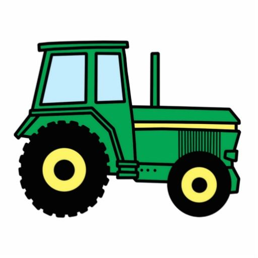 512x512 Cartoon Clip Art With A Cool Green Farmer Tractor Truck. Great