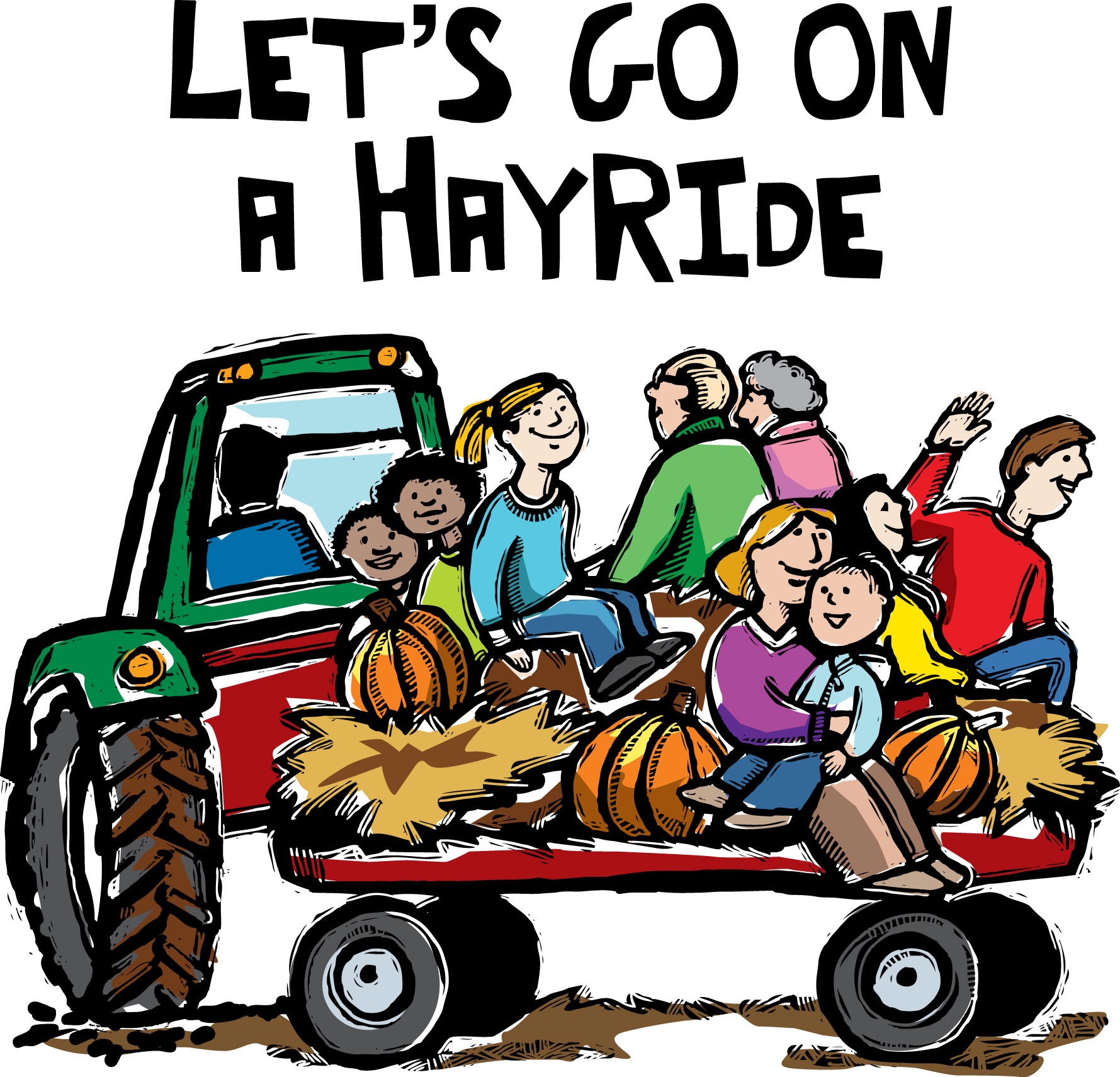 1779x1711 Collection Of Tractor Hayride Clipart High Quality, Free