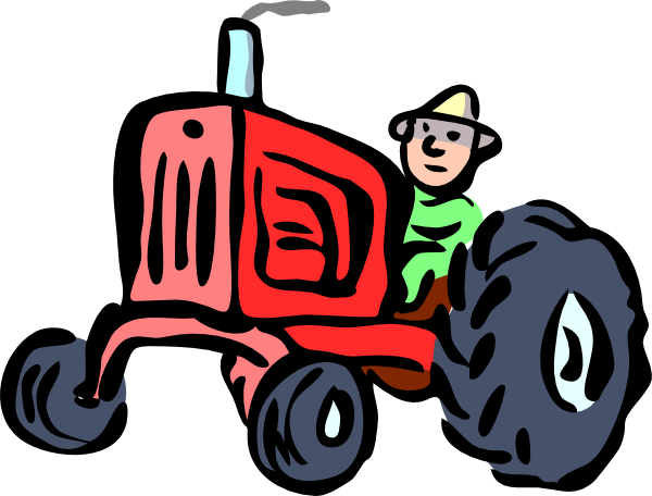 600x456 A Farmer On Tractor Clipart Black And White