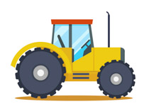 210x153 Animals With Tractor Clipart