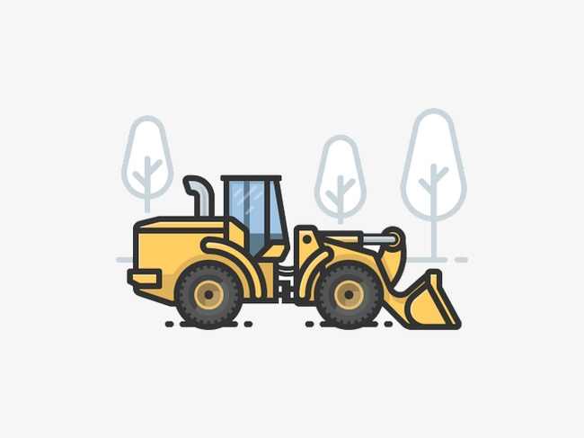 650x487 Cartoon Excavator, Excavator, Yellow, Trees Png Image And Clipart