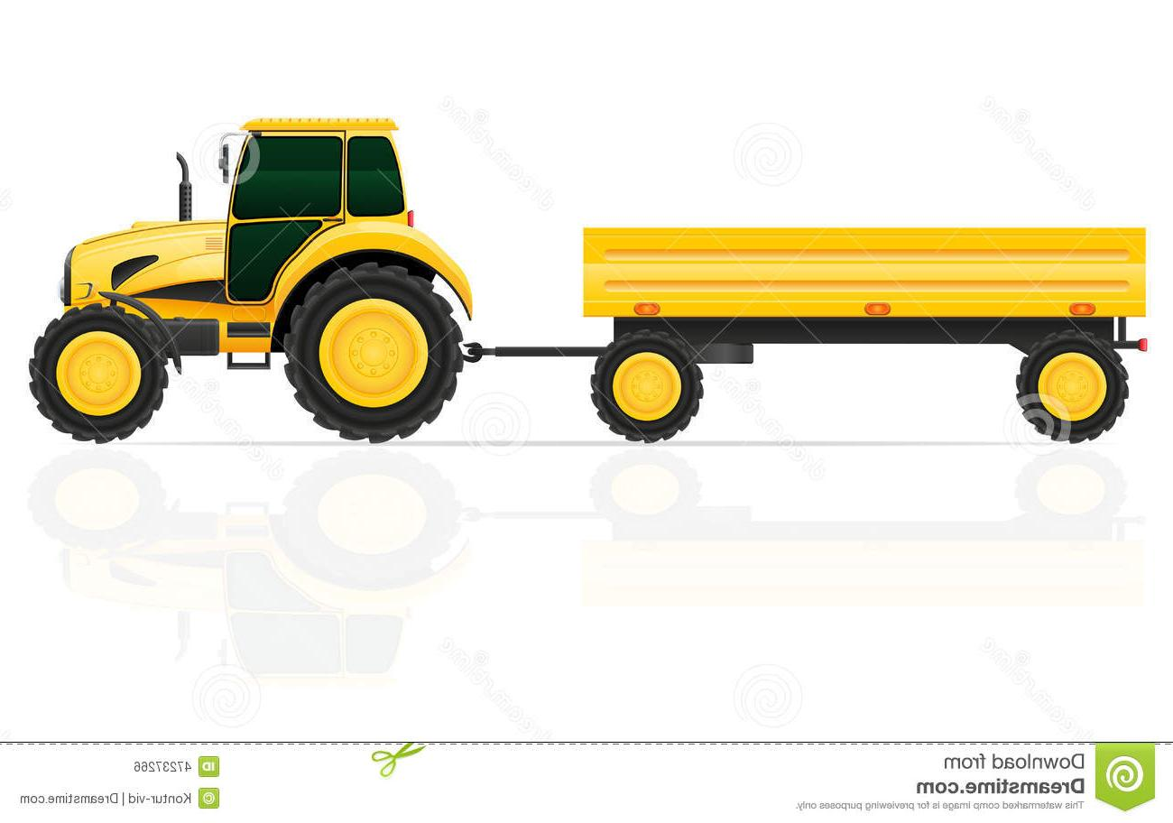1300x912 Top 10 Tractor Trailer Vector Illustration White Background Design