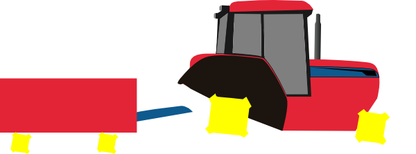 600x223 Tractor Trailer Red Clip Art