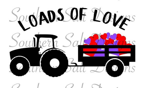 570x344 Valentine's Day File, Loads Of Love, Boys, Farm, Tractor, Trailer