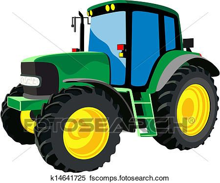450x373 Ideal Green Tractor Clipart