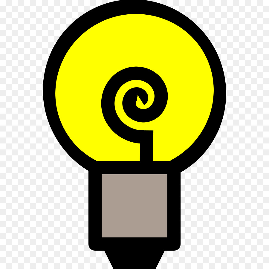 900x900 Incandescent Light Bulb Electric Light Lamp Clip Art