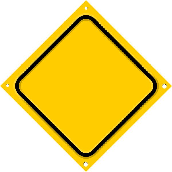 600x600 Road Sign Diagonal Blank, From Road Signs Page, Public Domain Clip