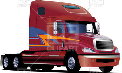 400x242 American Truck Without Trailer Royalty Free Vector Clip Art Image