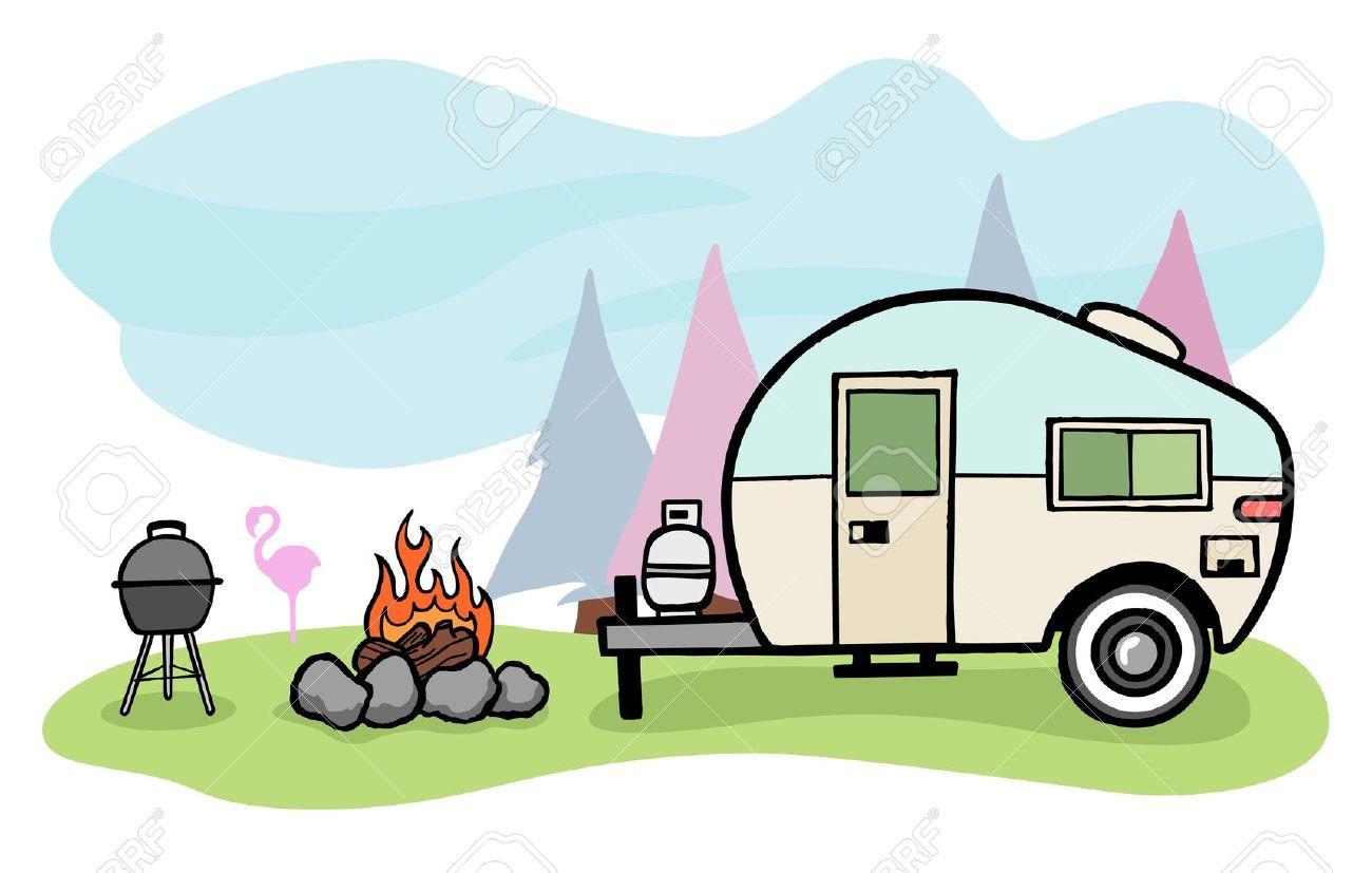 1300x827 Caravan Clipart Rv Camping