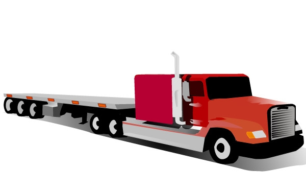 600x380 Container Truck Clip Art Vector Free Download