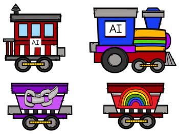 350x263 Vowel Team Train File Folders By Little Country Kindergarten Tpt