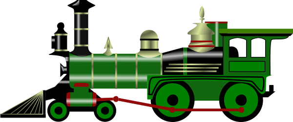 600x251 Steam Trains Clipart Collection