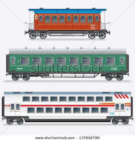450x470 Passenger Train Car Clipart