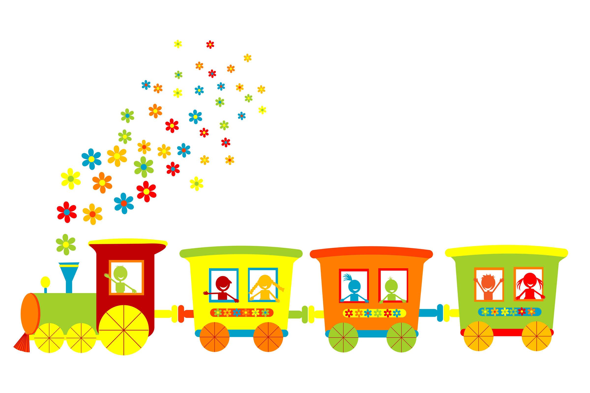 2400x1600 Circus Train Clipart