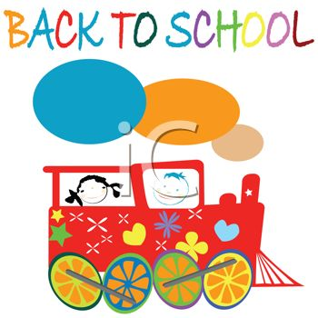 350x350 Royalty Free Clipart Image Back To School Text With Kids In