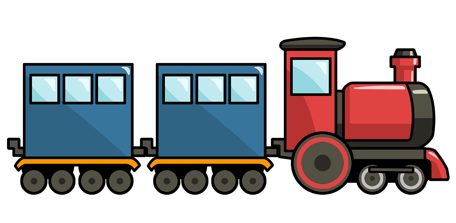 1600x783 Clipart Of Train