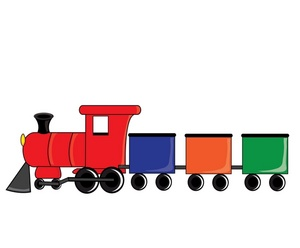300x248 Miniature Train Clipart