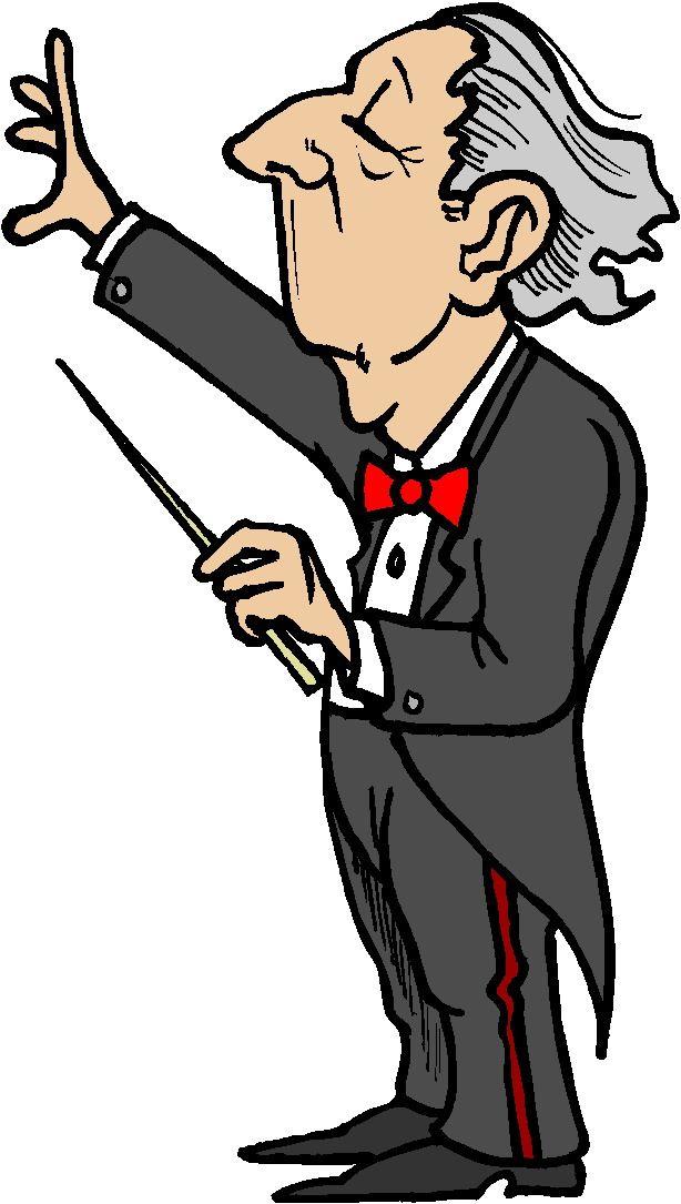 614x1085 Clip Art Of Orchestra Conductors
