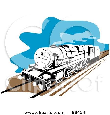 450x470 Royalty Free (Rf) Retro Train Clipart, Illustrations, Vector