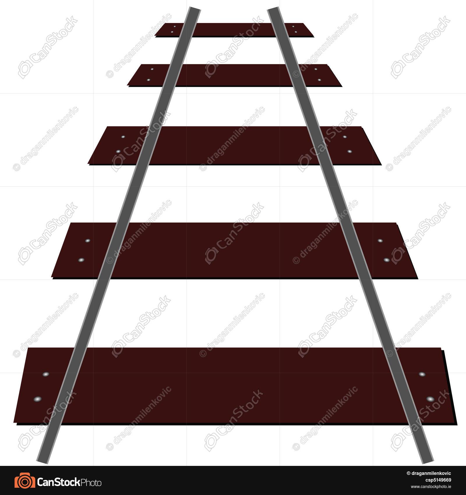 1600x1700 Train Tracks Illustration Eps Vectors