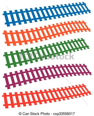 381x470 3d Colorful Railway, Railroad Tracks Isolated On White.