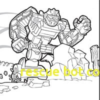 200x200 Rescue Bot Coloring Pages