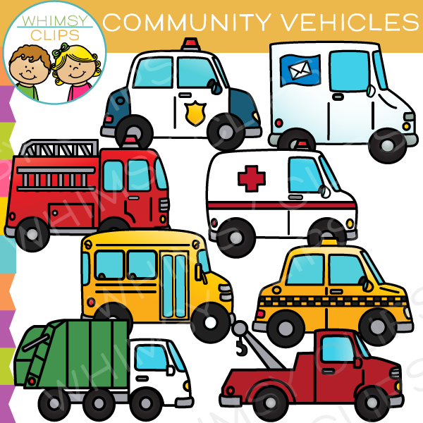 600x600 Community Vehicles Clip Art , Images Amp Illustrations Whimsy Clips
