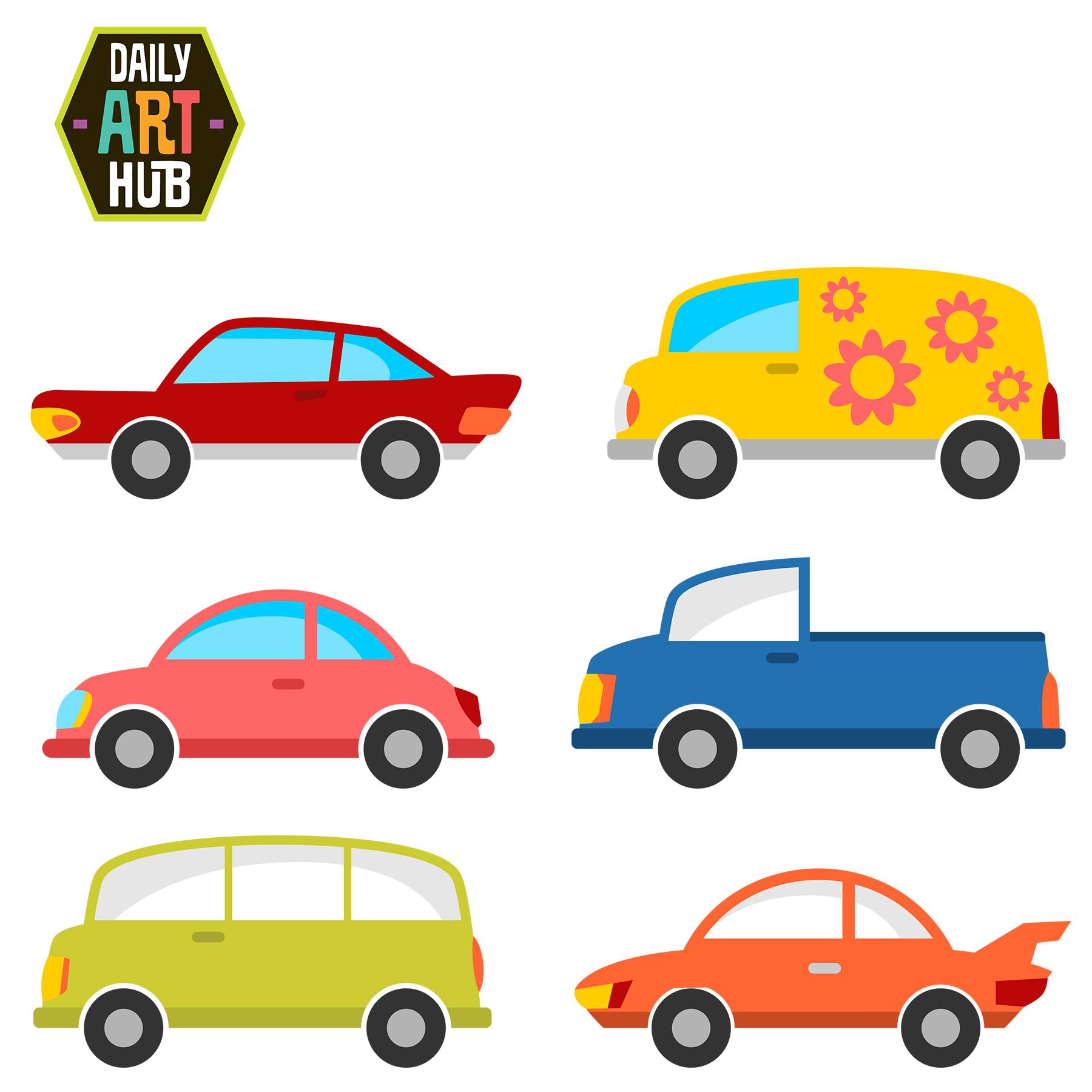 1800x1800 Cute Cars Clip Art Set Daily Art Hub Free Clip Art Everyday